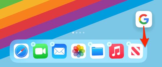 adding an App to the iPad Dock