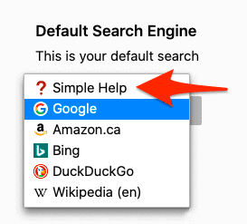 set a default search engine in Firefox