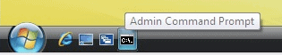 command prompt in quick launch bar