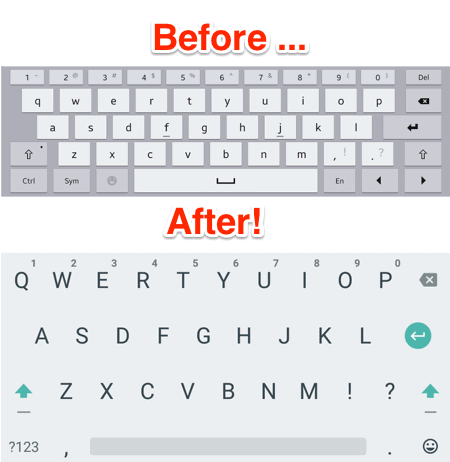 the samsung android keyboard compared to the google android keyboard