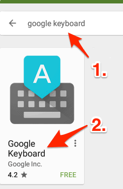 landing page for the Google Keyboard on the Play Store