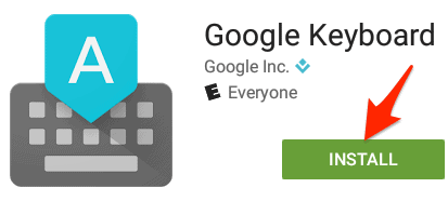 the Play Store install button