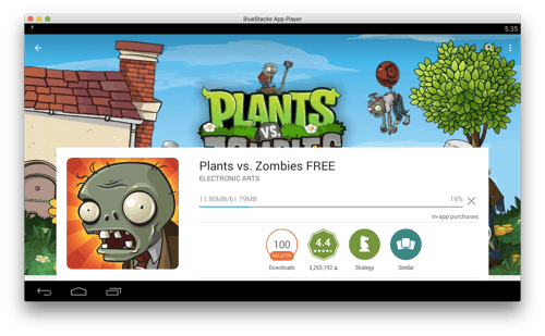 Plants vs. Zombies for Android on a Mac