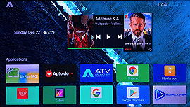 atv launcher home screen with widgets