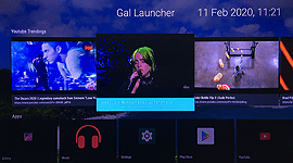 the gal tv launcher home screen