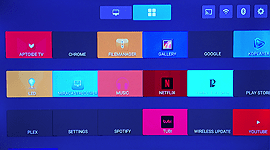 the second kicc.tv launcher home screen