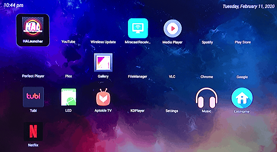letihome android tv launcher main screen