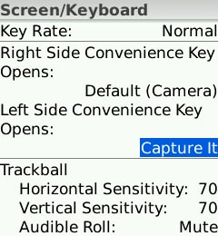 capture it assigned as a convenience key
