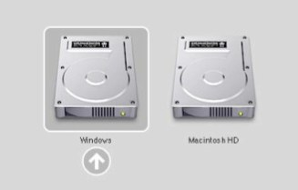 do you want to boot into OS X or Windows I choose OS X
