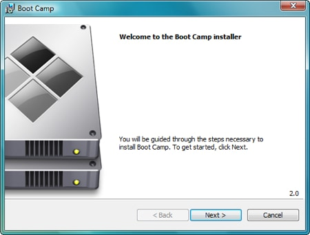 vista boot camp software installer