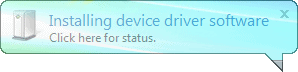 popup letting you know new drivers are being installed how nice