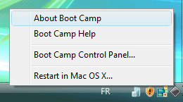 boot camp system tray icon