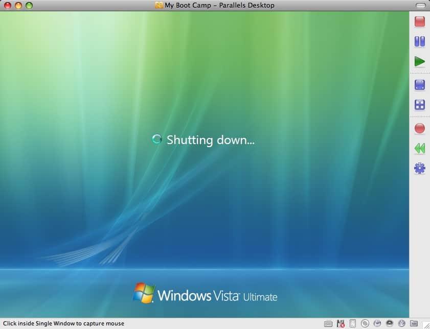 Vista Computer Shuts Down