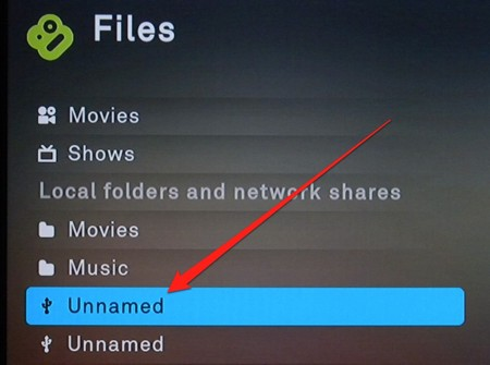 files section of the boxee box