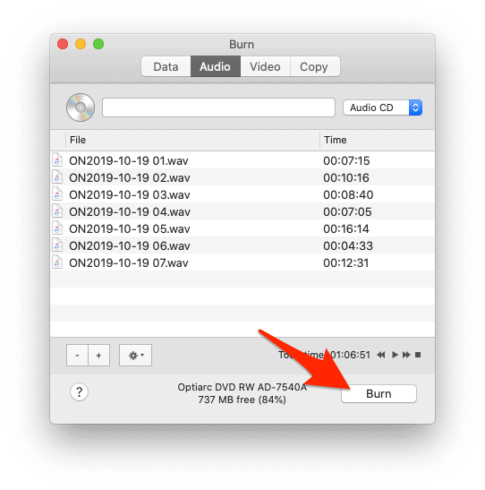 creating an audio cd from flac macOS