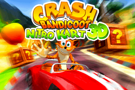 crash bandicoot nitro kart 3d for the iphone and ipod touch intro screen