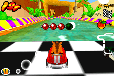 crash bandicoot nitro kart 3d for the iphone and ipod touch race start