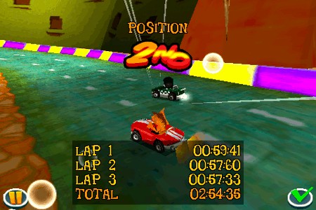 crash bandicoot nitro kart 3d for the iphone and ipod touch lap times