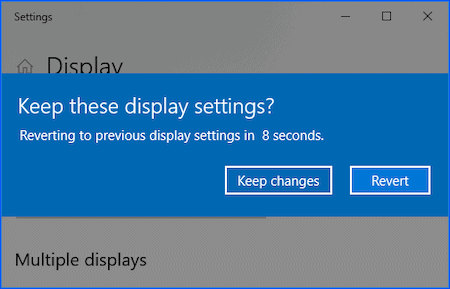 windows 10 screen resolution changed dialogue box
