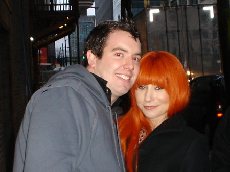 chris and tori with red eyes