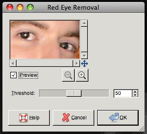gimp red eye removal threshold