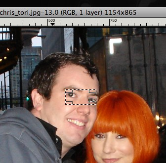 gimp red eye removal