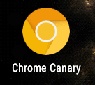 Chrome Canary browser icon