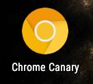 Icono del navegador Chrome Canary