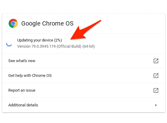 update a Chromebook to the latest version
