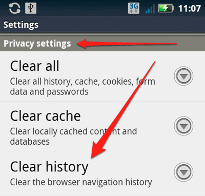how to delete browsing history on your phone