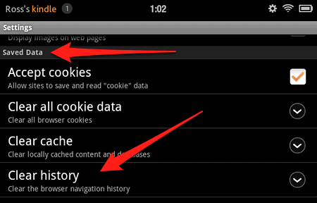 How to Clear the Browsing History on your Kindle Fire