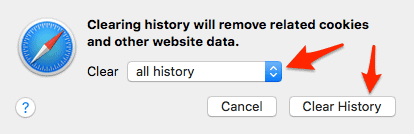 how to clear your browser history
