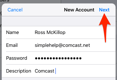 How to Setup Comcast Email on Your iPhone or iPad