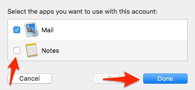 Mail setup wizard App preferences