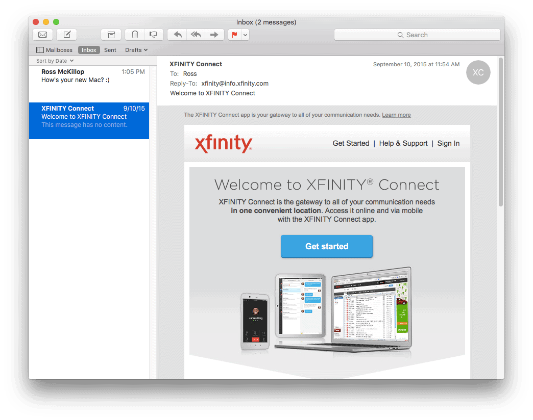 How to Setup Comcast Email on a Mac Running El Capitan