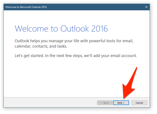 how to set up new account in outlook