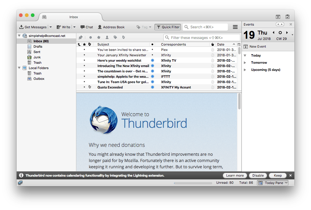 How to Setup Comcast Email in Thunderbird