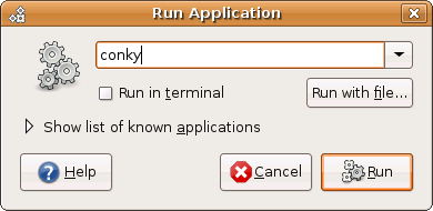 run conky from Ubuntu
