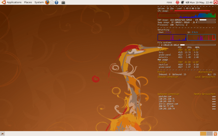 conky in Ubuntu via the terminal