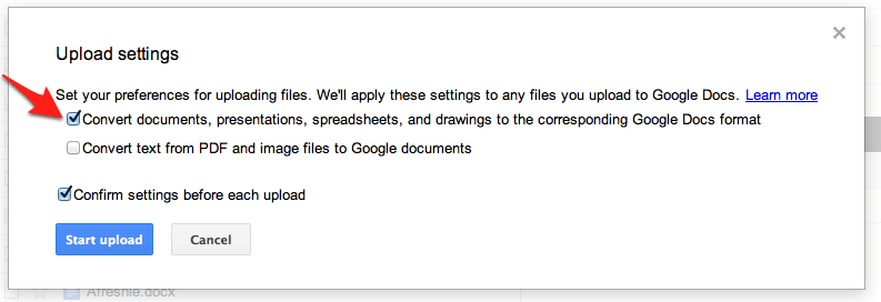 how to open a docx file in google docs