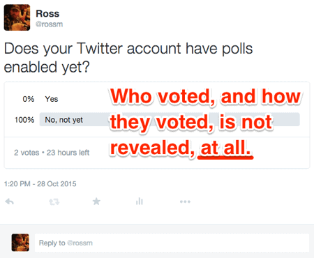 Twitter poll results detailed view