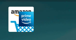 an amazon fire app icon being dropped onto another amazon fire app icon