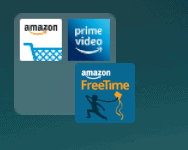 an amazon fire app icon being dropped into a collection of apps