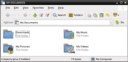 custom folders in xp