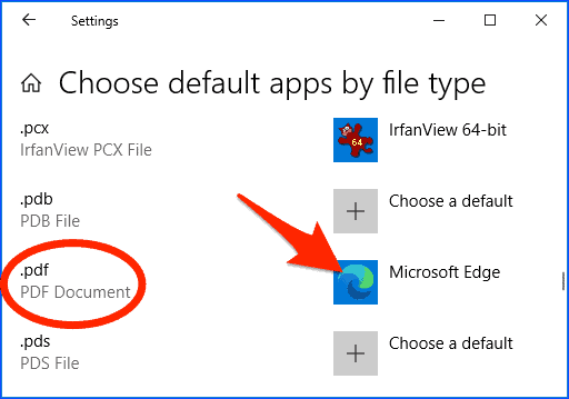 a list of Windows file types and the Apps that open them