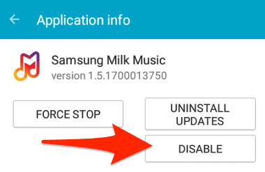 Disable an Android App