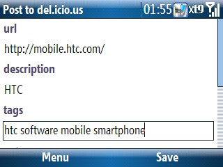 adding sites to del.icio.us in internet explorer mobile