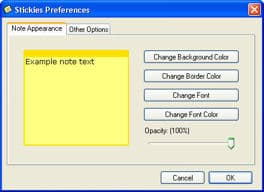 stickes for windows options