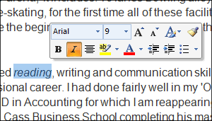 live preview in ms word