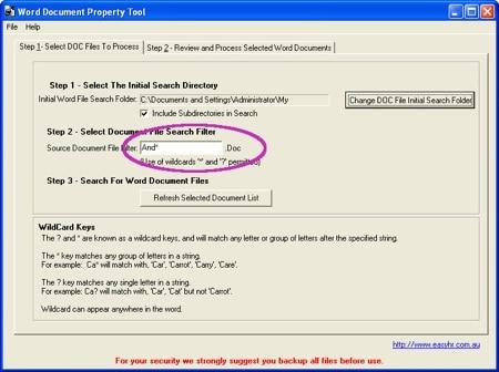 Easy HR Microsoft Word Document Properties
